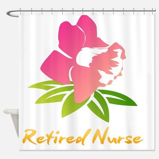 Cute Retired nurse Shower Curtain