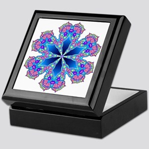 BUTTERFLY BLUE MANDALA Keepsake Box
