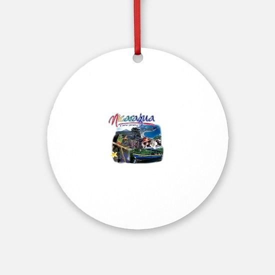 Unique Nicaragua Round Ornament