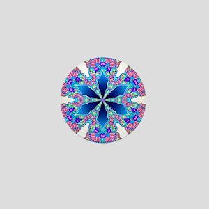 BUTTERFLY BLUE MANDALA Mini Button