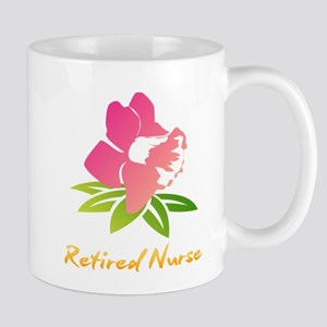 Retired Nurse Flower Mugs