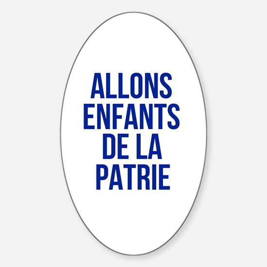 Funny France Sticker (Oval)