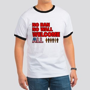 No Ban No Wall Welcome All T-Shirt