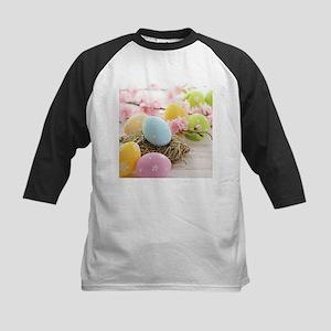 Easter Eggs Kids Baseball Jersey
