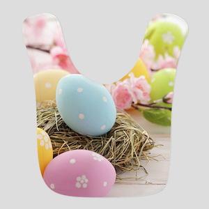 Easter Eggs Polyester Baby Bib