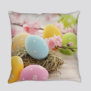Easter Eggs Everyday Pillow
