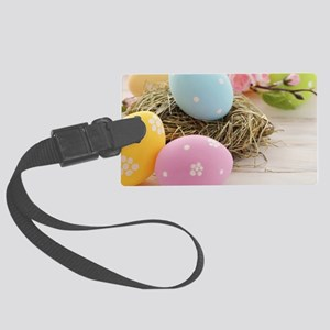 Easter Eggs Large Luggage Tag