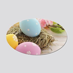 Easter Eggs 20x12 Oval Wall Decal