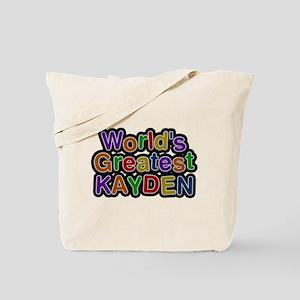 Worlds Greatest Kayden Tote Bag