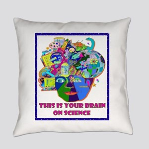 THIS IS YOUR BRAIN ON SCIENCE Everyday Pillow