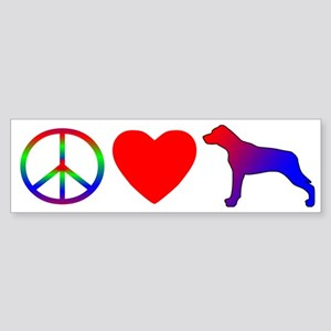 Peace, Love, Catahoula Leopard Dog Bumper Sticker
