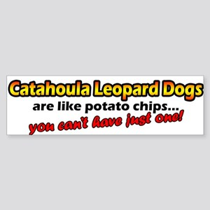 Potato Chips Catahoula Leopard Dog Bumper Sticker