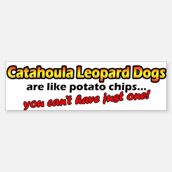 Potato Chips Catahoula Leopard Dog Bumper Bumper Bumper Sticker