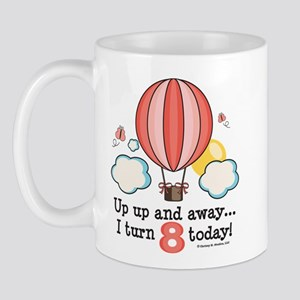 Eighth 8th Birthday Hot Air Balloon Mug