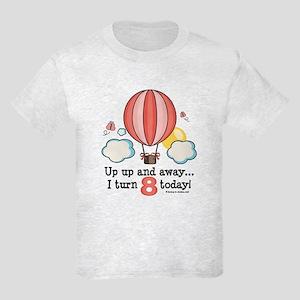 Eighth 8th Birthday Hot Air Balloon Kids Light T-S