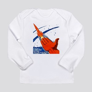 rocket soviet space propaganda Long Sleeve T-Shirt
