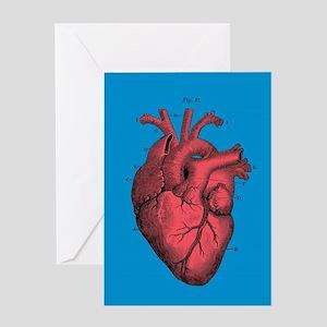 Vintage Anatomical Heart Greeting Cards
