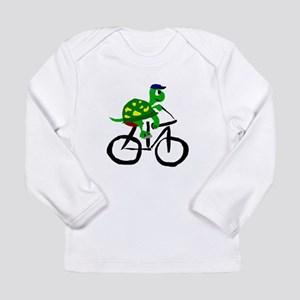 Turtle Riding Bicycle Long Sleeve T-Shirt