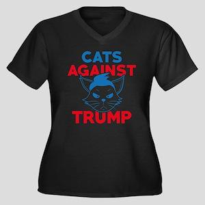 Cats Against Trum Plus Size T-Shirt