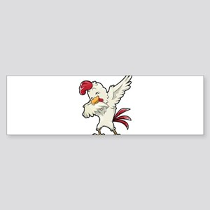 Dabbing Chicken Bumper Sticker