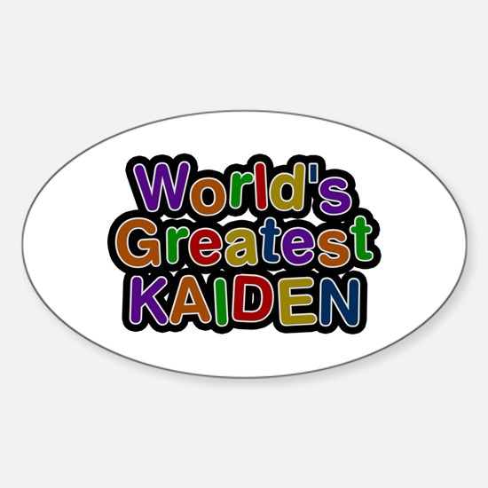 World's Greatest Kaiden Oval Decal