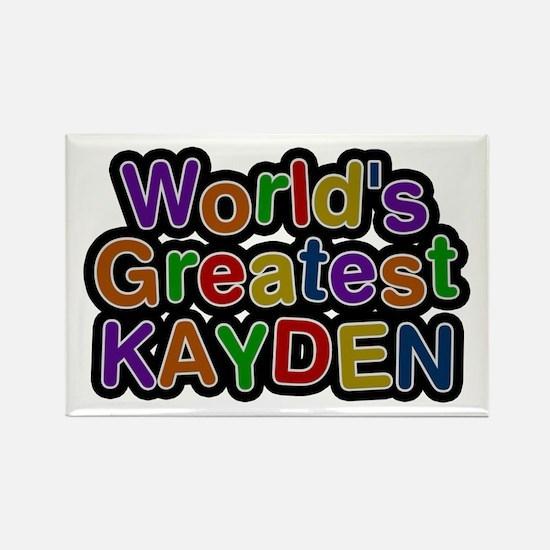 World's Greatest Kayden Rectangle Magnet