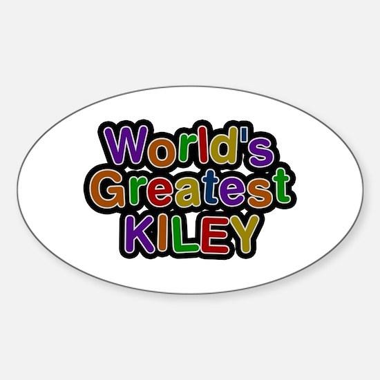 World's Greatest Kiley Oval Decal