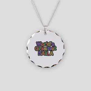 World's Greatest Kaila Necklace Circle Charm