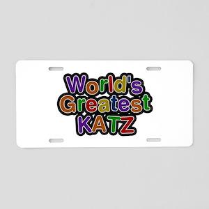 World's Greatest Katz Aluminum License Plate