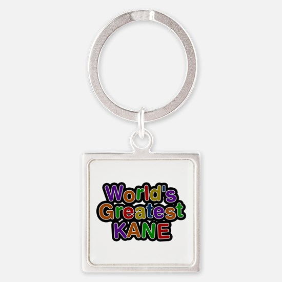 World's Greatest Kane Square Keychain