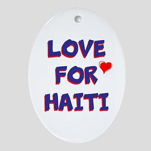 Love For Haiti Oval Ornament