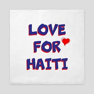 Love For Haiti Queen Duvet