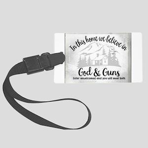 God & Guns Large Luggage Tag