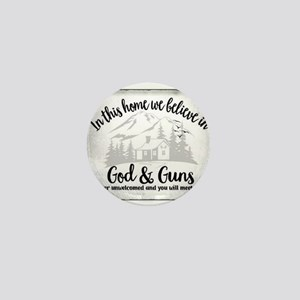 God & Guns Mini Button