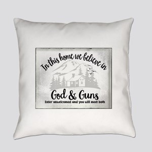 God & Guns Everyday Pillow