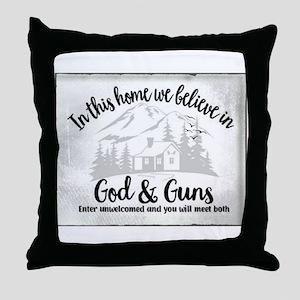 God & Guns Throw Pillow
