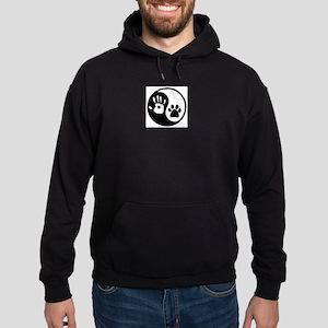 Yin Yang Hand Paw Hoodie Sweatshirt