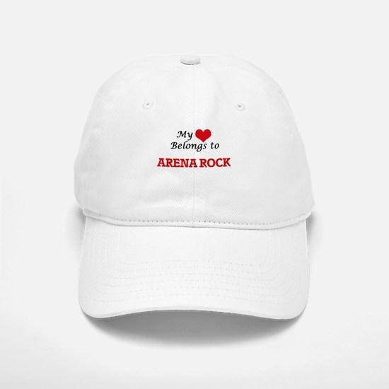 My heart belongs to Arena Rock Baseball Baseball Cap