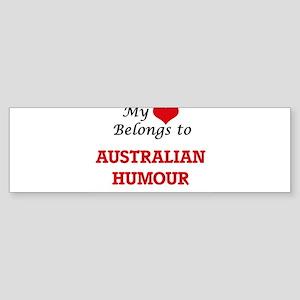 My heart belongs to Australian Humo Bumper Sticker
