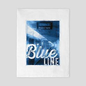 Chicago Train - Blue Line O'Hare Twin Duvet