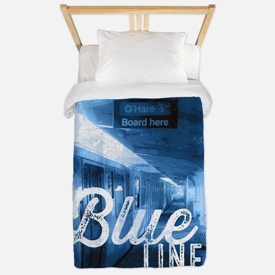 Chicago Train - Blue Line O'Hare Twin Duvet