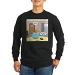 Fish Ordering Pizza Deliv Long Sleeve Dark T-Shirt