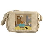 Fish Ordering Pizza Delivery Messenger Bag