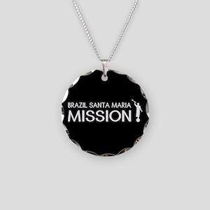 Brazil, Santa Maria Mission Necklace Circle Charm