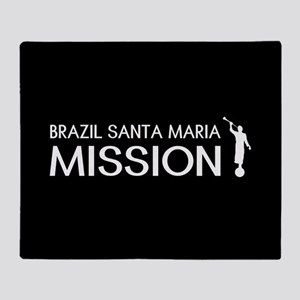 Brazil, Santa Maria Mission (Moroni) Throw Blanket