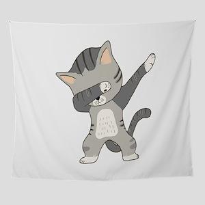 Dabbing Cat Wall Tapestry