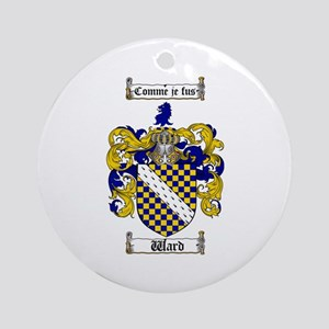 Ward Coat of Arms Ornament (Round)