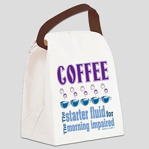 Coffee Starter Fluid Canvas Lunch Bag
