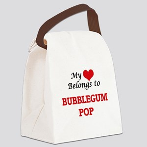 My heart belongs to Bubblegum Pop Canvas Lunch Bag