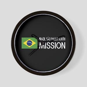 Brazil, São Paulo South Mission (Flag) Wall Clock